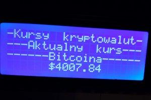 Wyświetlanie kursu kryptowalut z pomocą Raspberry Pi