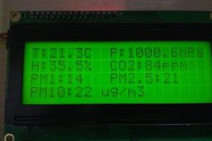 Stacja z pomiarem pyłów, temperatury, ciśnienia, wilgotności