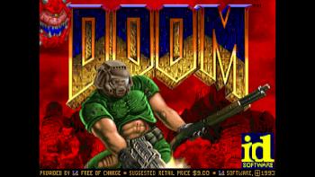 Ekran startowy Doom