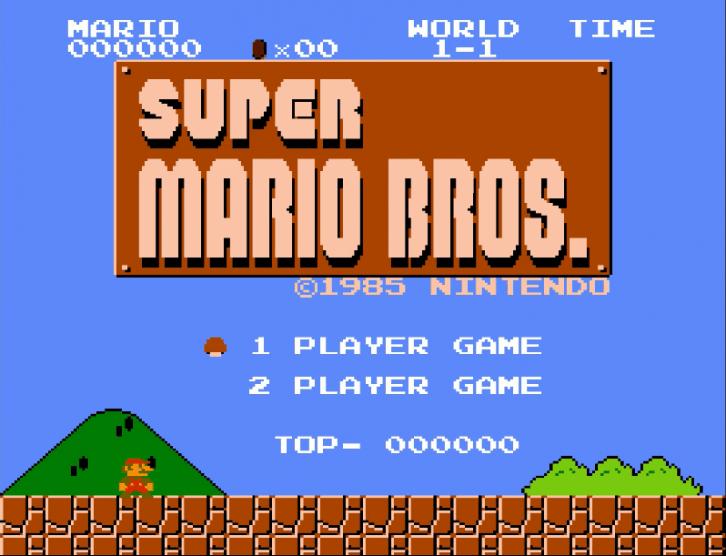 Przykładowy zrzut z gry Super Mario Bros, zaczerpnięty losowo z Internetu