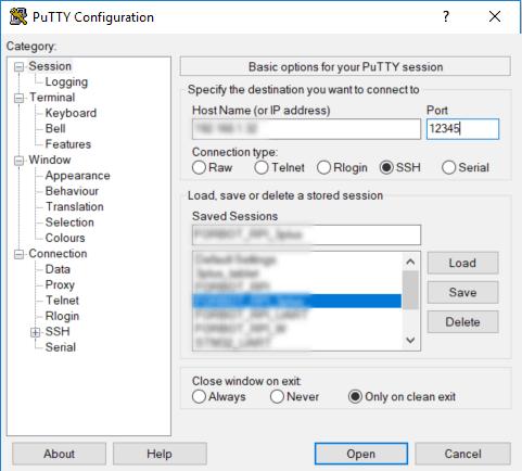 Łączenie z Raspberry Pi na nowym porcie numer 12345