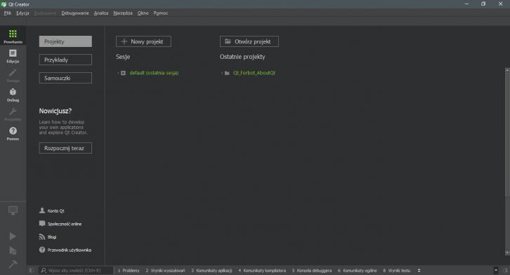 Qt Creator - cross-platformowe IDE do rozwoju aplikacji przy wykorzystaniu frameworka Qt