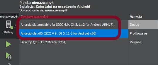 Uruchomienie aplikacji mobilnej