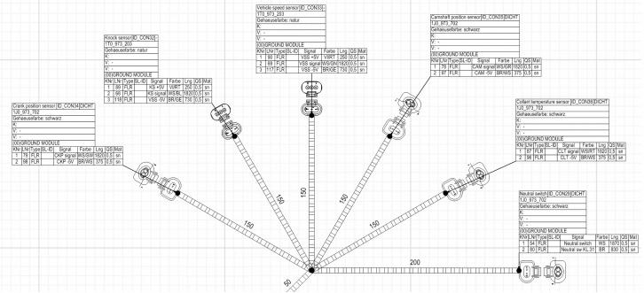 Fragment Topologii 2D wiązki elektrycznej