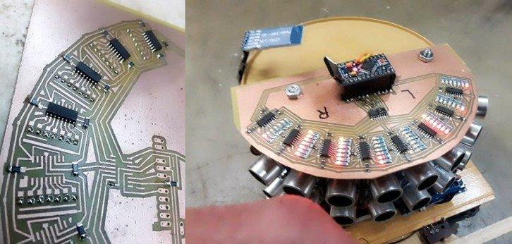 Działanie zbudowanego sensora