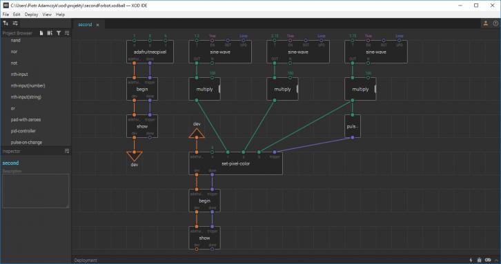 Widok programu XOD IDE