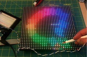 Oryginalny skaner DIY z matrycy LED i fototranzystora