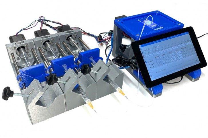 Jeden z prototypów pompy strzykawkowej DIY.