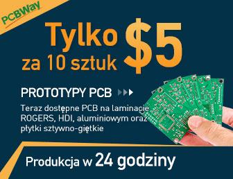 Tylko 5$ za 10 sztuk prototypów PCB
