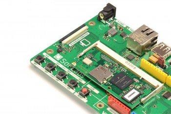 Cztery przyciski i diody oraz RESET