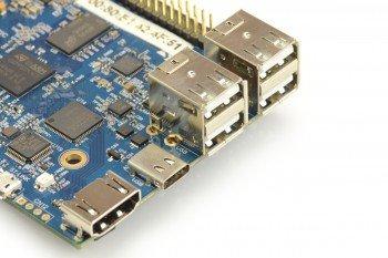 Złącze HDMI, zasilanie i USB