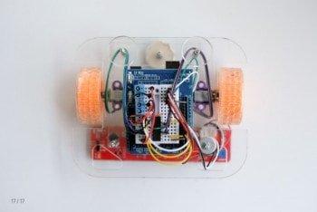 Złożony i gotowy do działania robot-gąbka