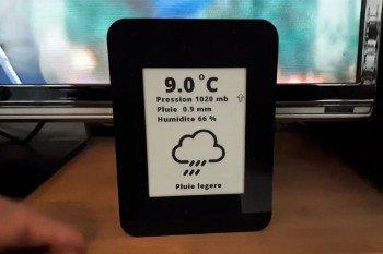 Niezwykła stacja pogodowa DIY z dwoma ekranami e-ink