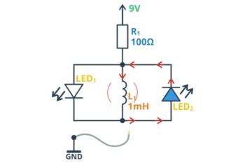 LED2 świeci po odłączeniu zasilania