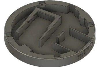 Model 3D dolnej części projektu
