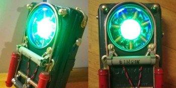 Steampunkowa latarka LED na bramkach logicznych