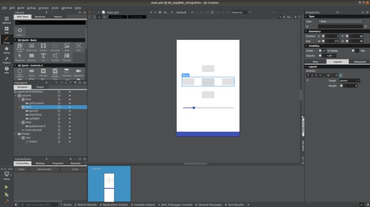 Podgląd interfejsu w trybie projektowania