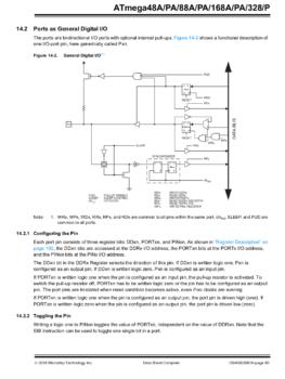 Fragment dokumentacji mikrokontrolera
