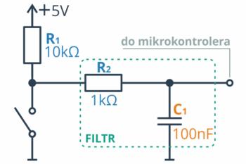 Filtr RC - prosta implementacja