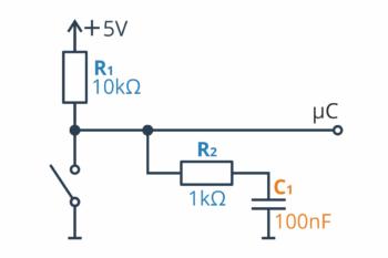 Dolnoprzepustowy filtr RC - konfiguracja numer 2