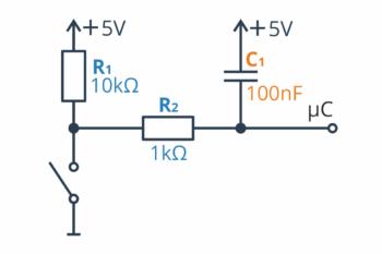 Dolnoprzepustowy filtr RC - konfiguracja numer 1