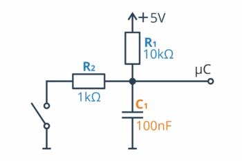 Dolnoprzepustowy filtr RC - konfiguracja numer 3