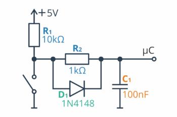 Dolnoprzepustowy filtr RC - konfiguracja numer 4