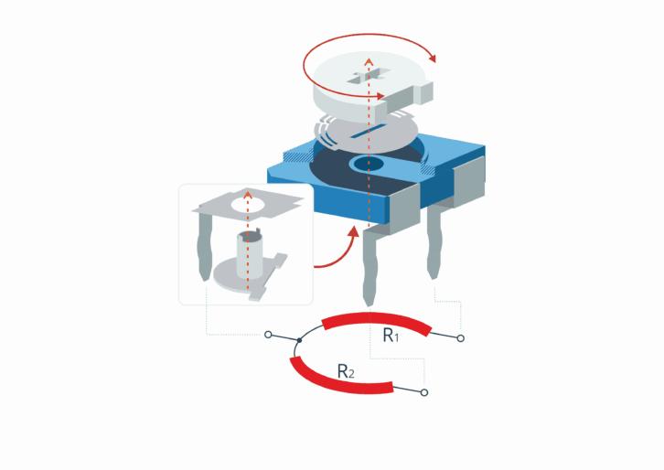 Potencjometr montażowy - budowa