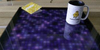 Oryginalny stolik DIY z wbudowanym wyświetlaczem LED RGB