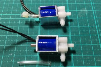 Elektrozawory wykorzystane w projekcie