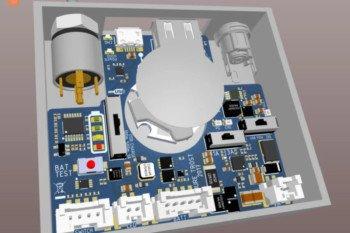Wizualizacja 3D płytki PCB