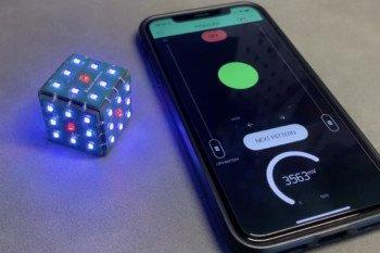 Wygląd aplikacji sterującej na smartfonie