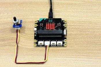 Zmiana liczby diod po przekręceniu czujnika