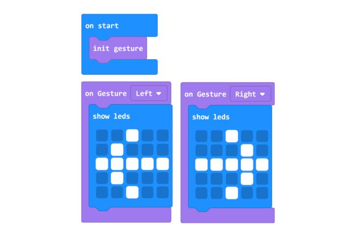 Program pozwalający przetestować czujnik gestów