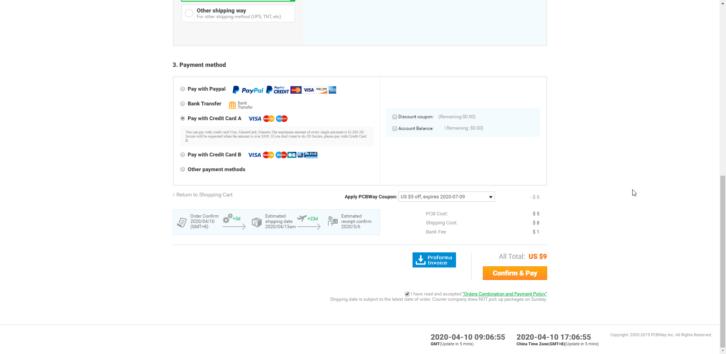 Wybór metody płatności i kodu rabatowego