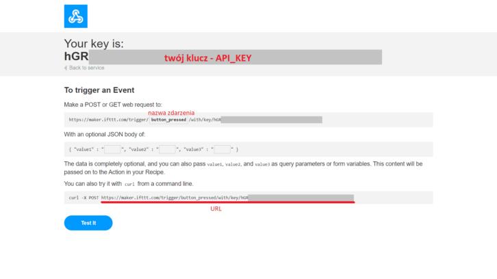Pobieranie unikalnego klucza oraz adresu URL