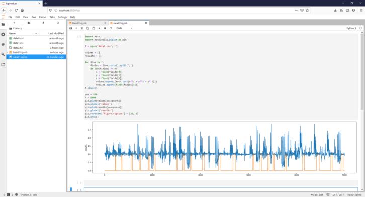 Efekt działania skryptu w Pythonie – wizualizacja zebranych danych