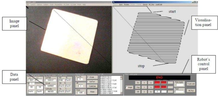 Automatyczne określanie obszaru obróbki przez analiza granic w oprogramowaniu RoboView