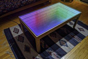 Stolik z efektem nieskończonego tunelu dzięki Arduino