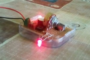 Prosty alarm laserowy na NE555
