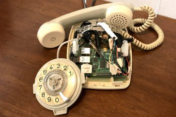 Wykorzystany telefon stacjonarny wraz z Raspberry Pi
