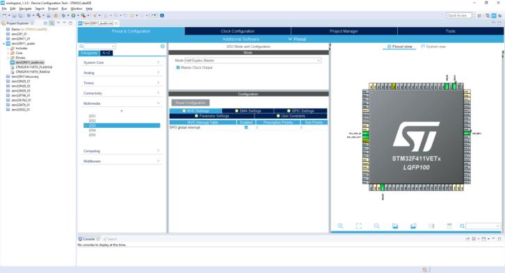 Projekt STM32CubeIDE – NVIC Settings
