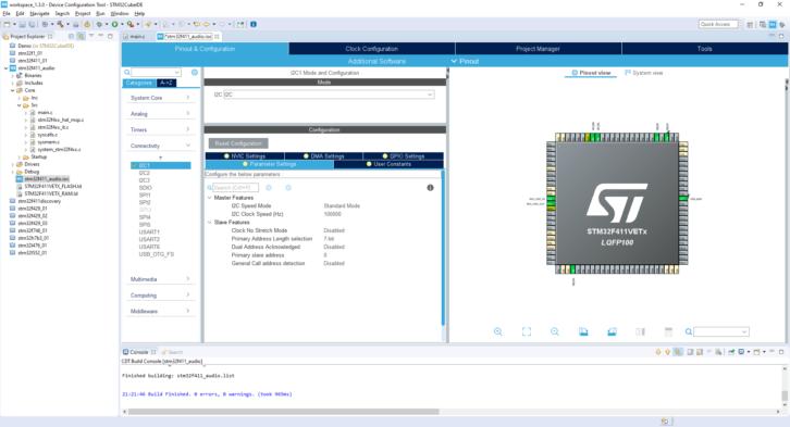 Projekt STM32CubeIDE – konfiguracja I2C