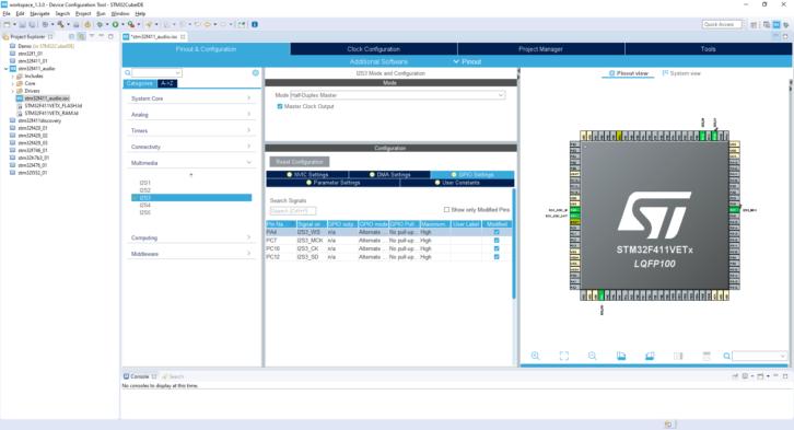 Projekt STM32CubeIDE – GPIO Settings