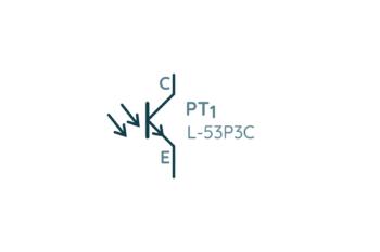 Symbol fototranzystora na schemacie