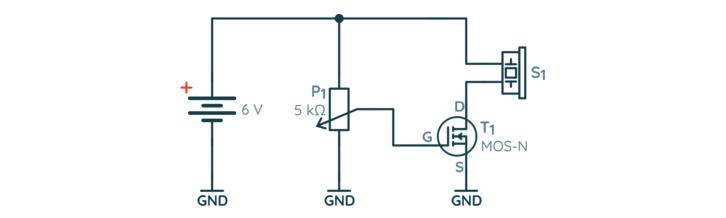 Schemat układu z potencjometrem