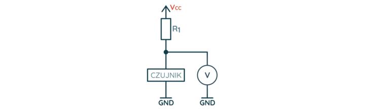 Przykładowy schemat podłączenia czujnika analogowego