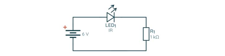 Schemat prostego testera diod IR