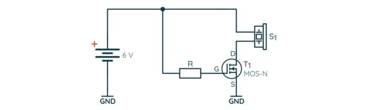 Przykładowe wykorzystanie tranzystora typu MOSFET
