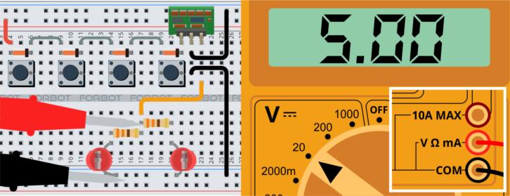 Układ zasilany przez cztery diody – na wyjściu 5V